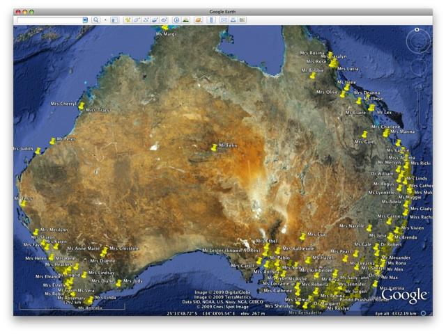 Australia Map Google.Maps Of Most Civil Celebrants In Australia