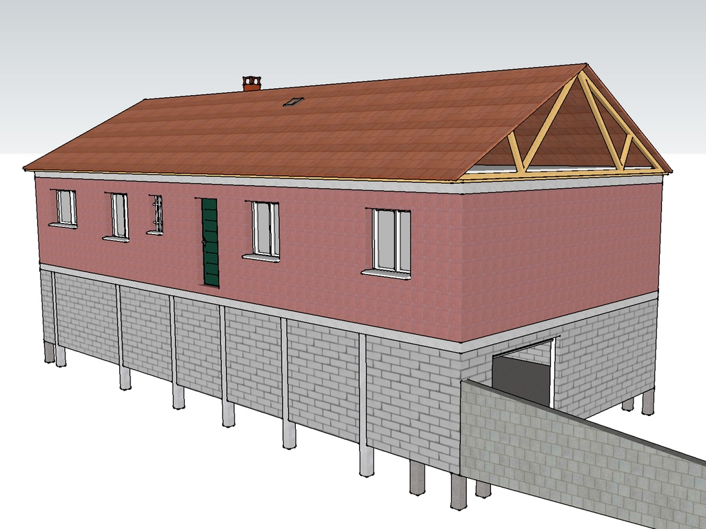 External view of the house model